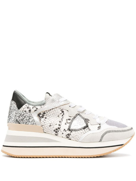 Philippe Model Paris Triomphe St. python print sneakers in grey