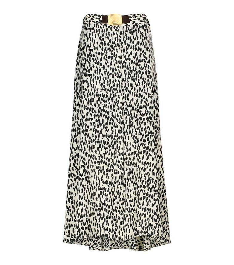 Dorothee Schumacher Wild Moment animal-print silk maxi skirt in black