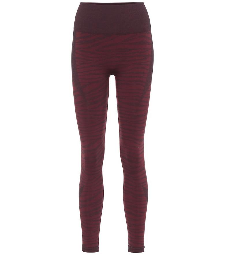 Varley Rosewood printed leggings in red