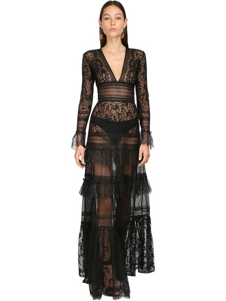 ZUHAIR MURAD Lace Long Dress in black