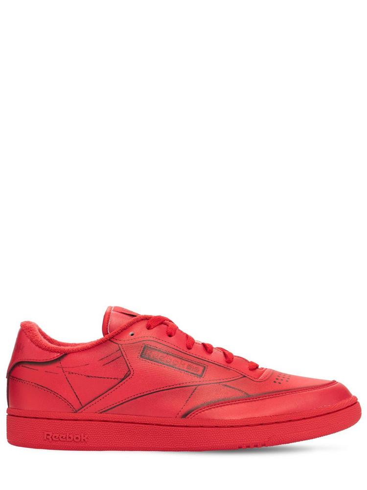 REEBOK CLASSICS Project 0 Club C Trompe L'oeil Sneakers in red
