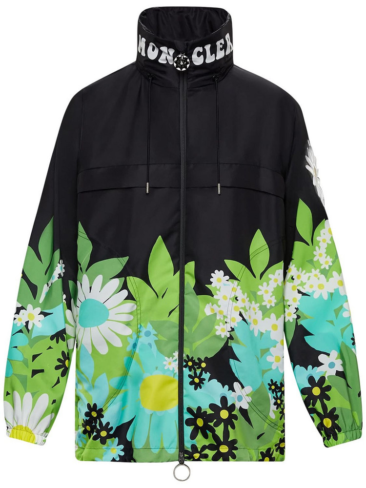 MONCLER GENIUS Richard Quinn Printed Nylon Windbreaker in black / multi