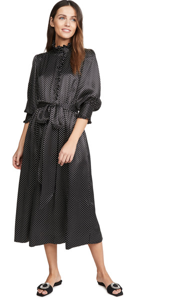 Runway Marc Jacobs Dress With Ruffle At Collar & Cuffs in black