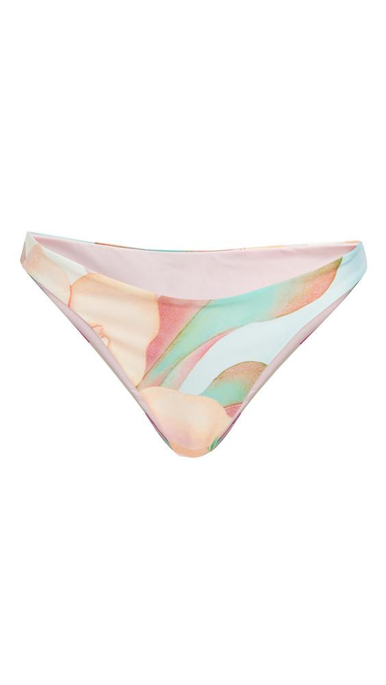 Mara Hoffman Reva Bikini Bottoms in pink / multi