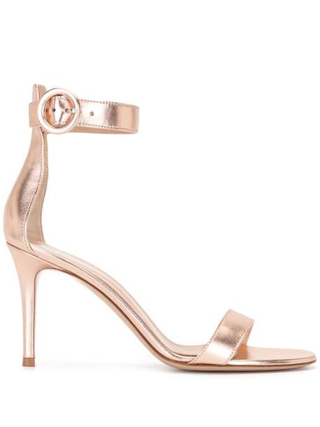 Gianvito Rossi Portofino 85mm leather sandals in pink