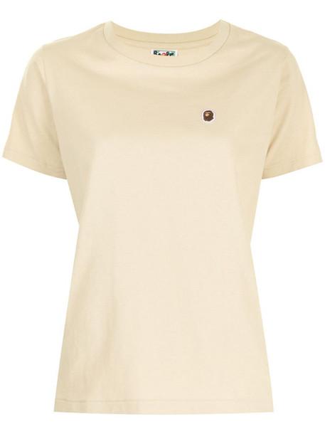 A BATHING APE® Ape Head cotton T-shirt in yellow