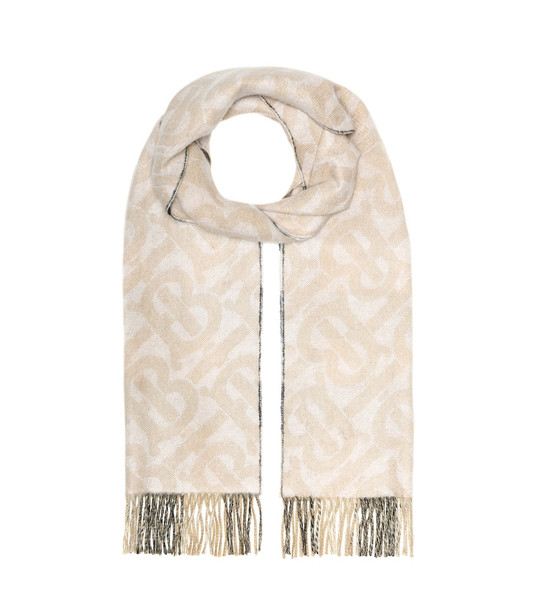 Burberry Monogram cashmere reversible scarf in beige