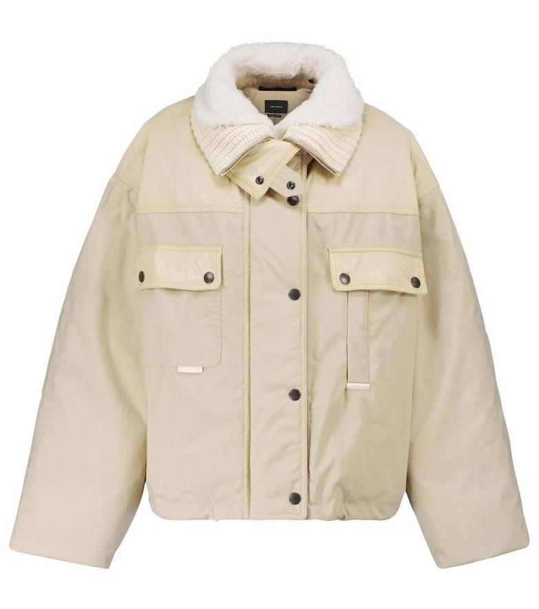 Isabel Marant Dellazia shealing-trimmed jacket in beige