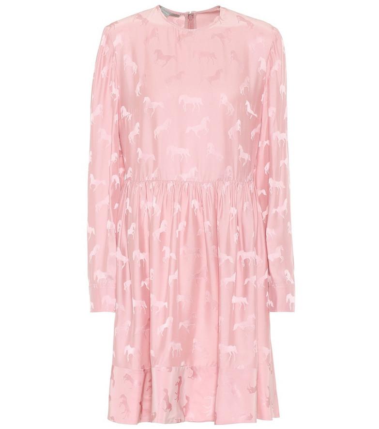 Stella McCartney Silk-blend jacquard dress in pink
