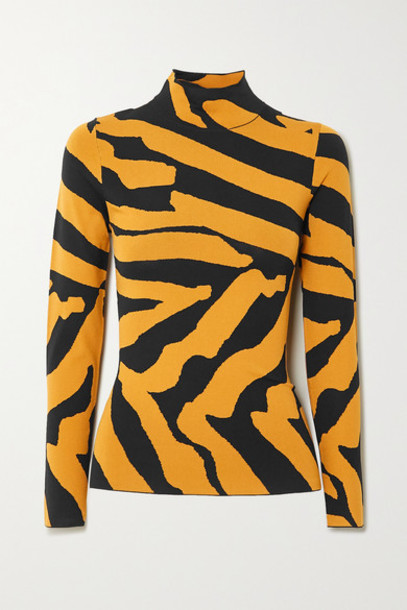 Proenza Schouler - Stretch Jacquard-knit Turtleneck Sweater - Black