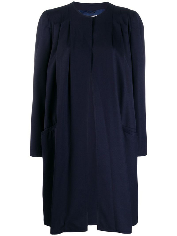 Valentino Pre-Owned 1980's Valentino coat in blue