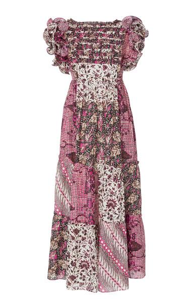 Ulla Johnson Zoya Printed Cotton-Silk Maxi Dress Size: 4 in print