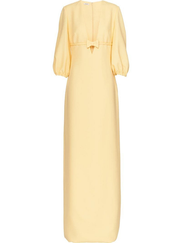 Miu Miu long sablé dress in yellow