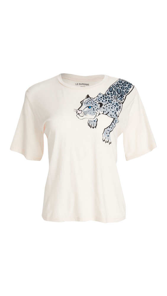 Le Superbe Painted Lil' Leopard Tee in pink