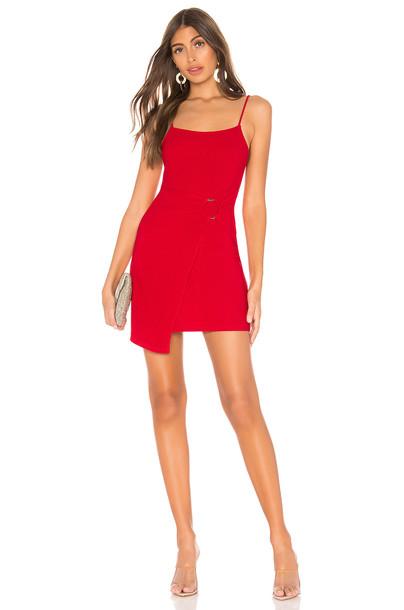 Privacy Please Sandy Mini Dress in red