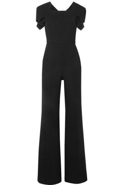 Roland Mouret - Corella Wool-crepe Jumpsuit - Black