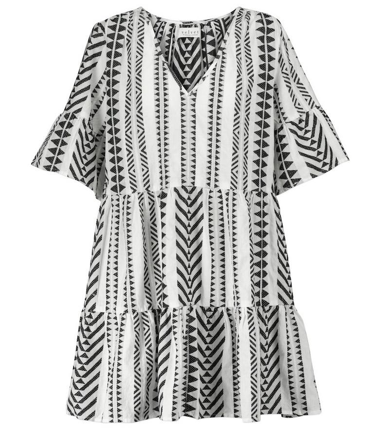 Velvet Madelina cotton minidress in black