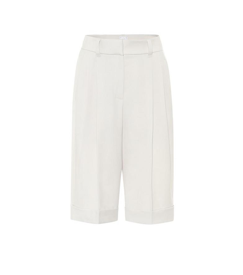 Brunello Cucinelli Virgin wool Bermuda shorts in neutrals