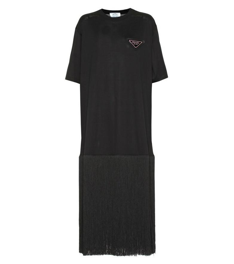 Prada Cotton maxi dress in black