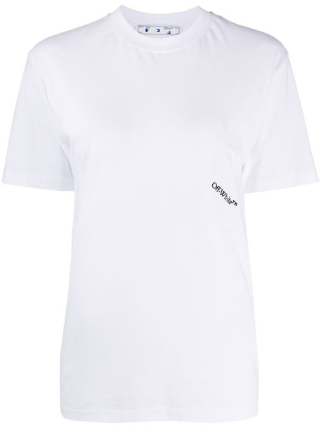 Off-White embroidered logo T-shirt in white