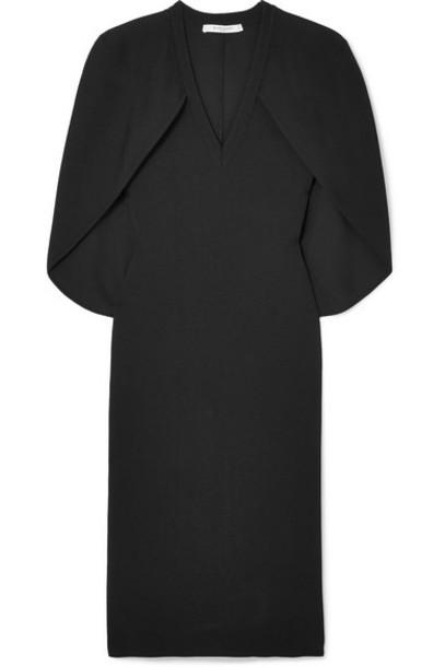 Givenchy - Cape-effect Stretch-knit Dress - Black