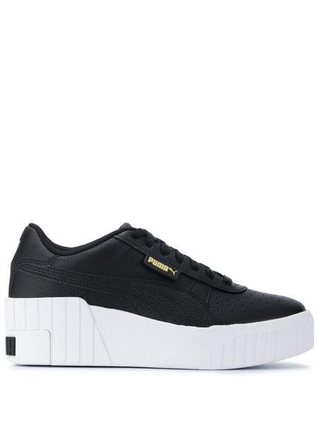 Puma Cali Wedge sneakers in black