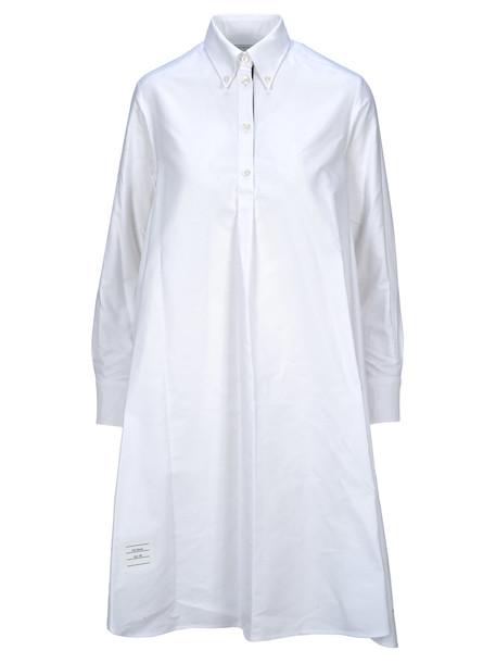 Thom Browne Circle Shirtdress in white