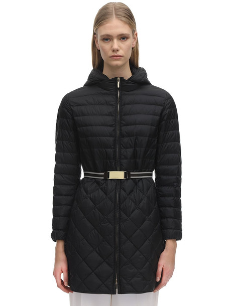 MAX MARA 'S Hoodd Waterproof Nylon Down Coat in black