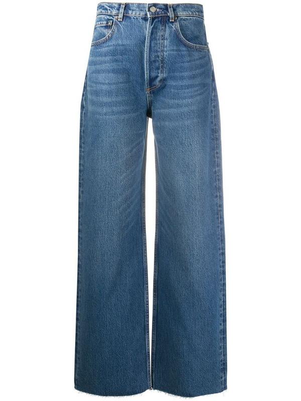 BOYISH DENIM denim wide leg jeans in blue