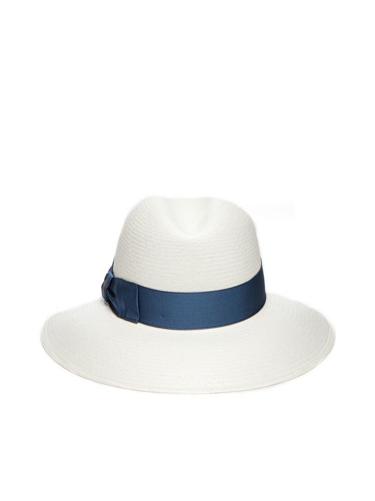 Borsalino Claudette Fine Hat in bianco