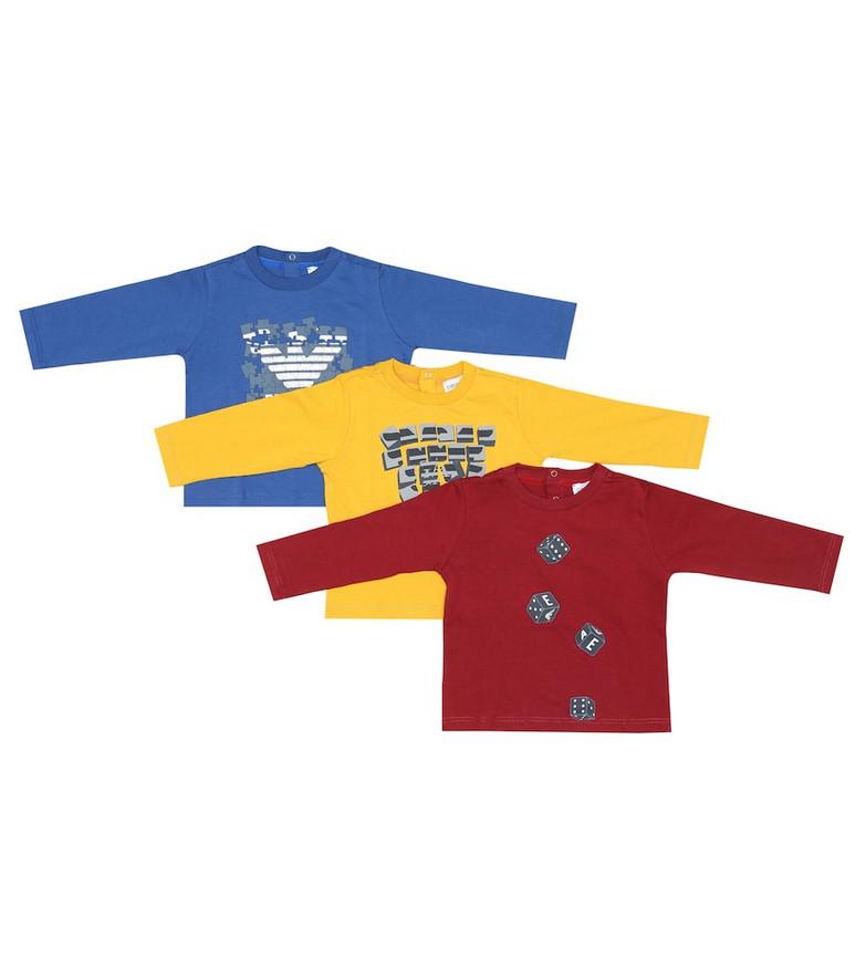 Emporio Armani Kids Baby set of 3 cotton tops