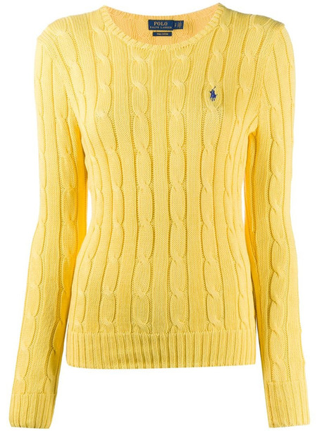 Polo Ralph Lauren cable knit jumper in yellow