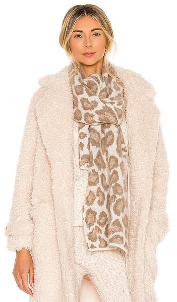 Rag & Bone Cheetah Scarf in Brown in ivory / beige
