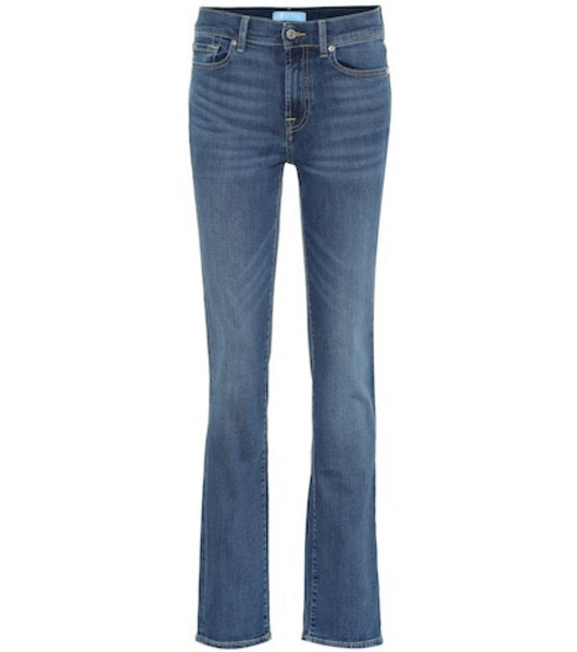 7 For All Mankind B(AIR) high-rise straight jeans in blue
