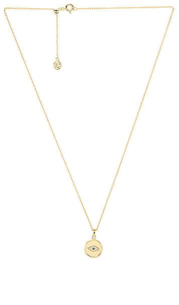 gorjana Madison Evil Eye Necklace in Metallic Gold