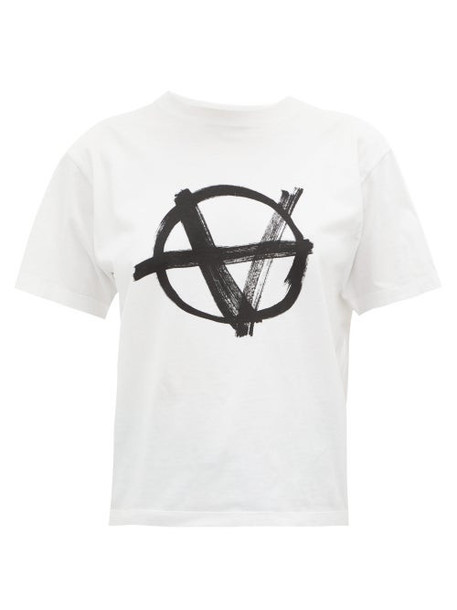 Vetements - Anarchy Print T Shirt - Womens - White