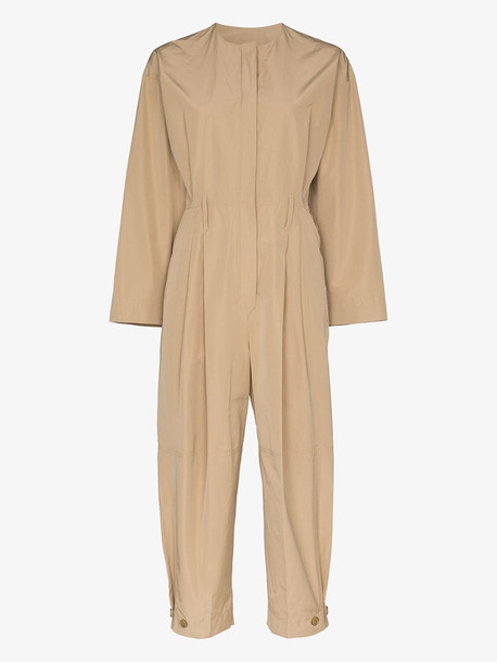 Givenchy cargo cotton jumpsuit in neutrals
