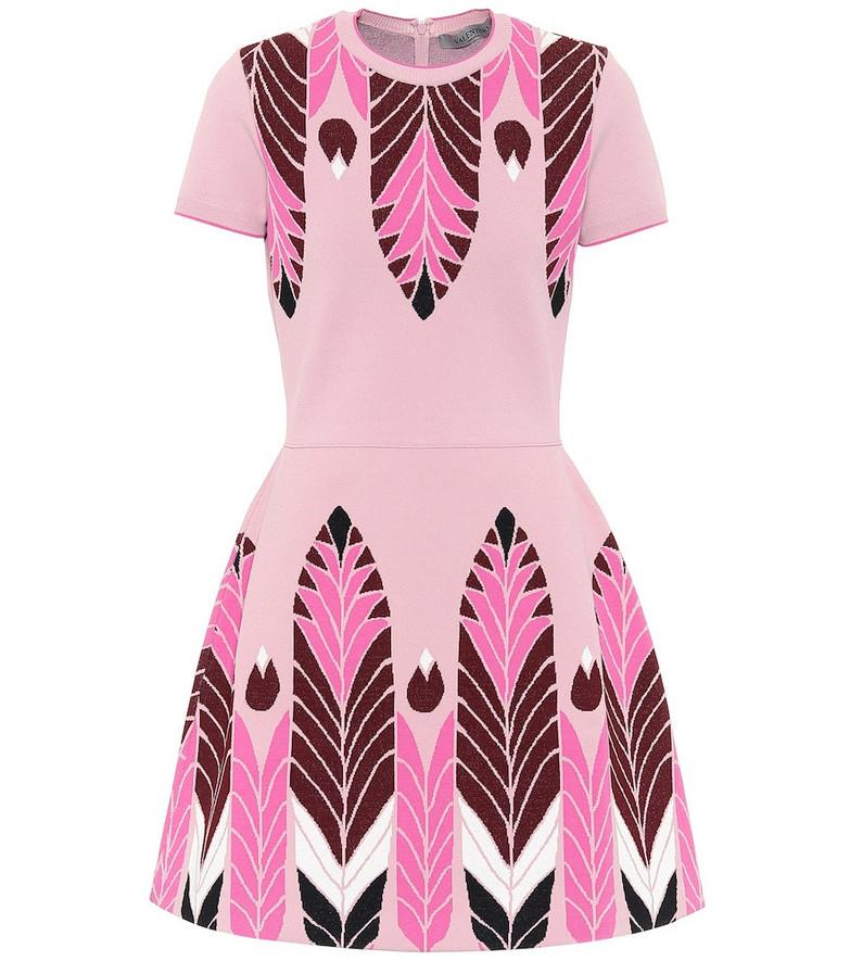 Valentino Jacquard minidress in pink