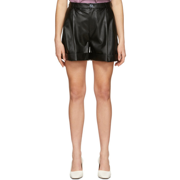 Aeron SSENSE Exclusive Black Isabelle Pleated Shorts
