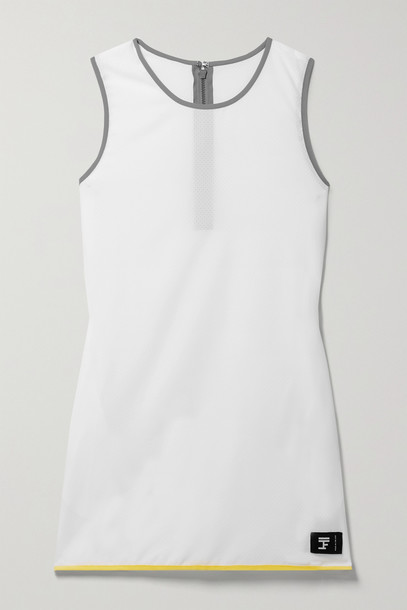 Full Court - Perforated Stretch-jersey Tennis Dress - White