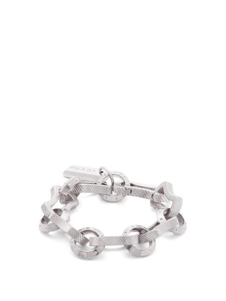 Prada - Textured Chain Bracelet - Womens - Silver