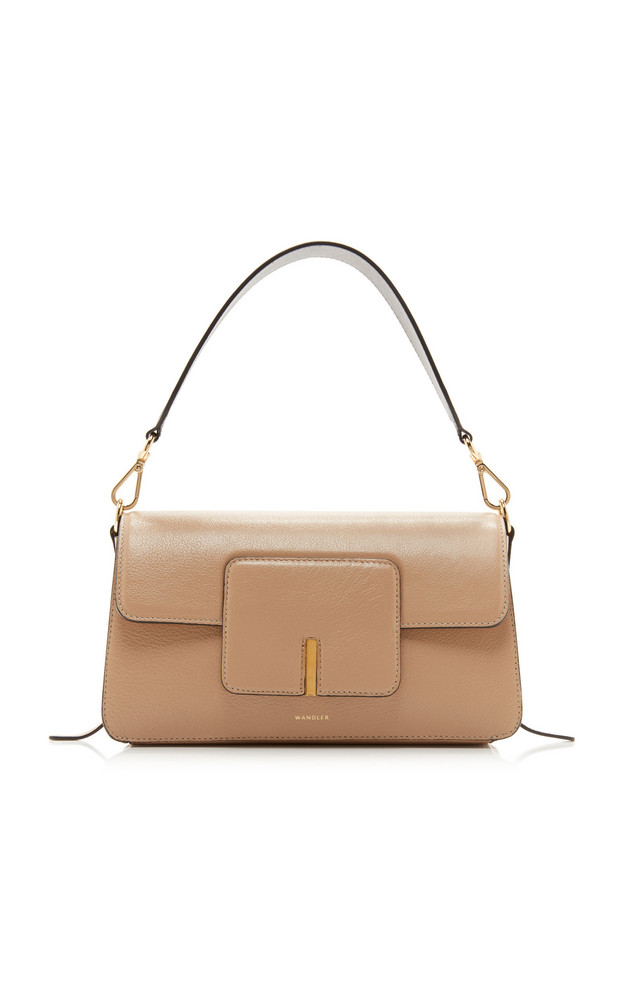 Wandler Georgia Leather Shoulder Bag in neutral