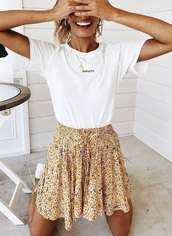 skirt,flowy,mini skirt,floral skirt,lifestyle,back to school,sweet,cute