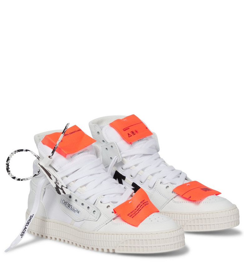 Off-White 3.0 Court leather high-top sneakers in white