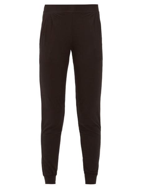 Derek Rose - Basel Micromodal Blend Track Pants - Womens - Black