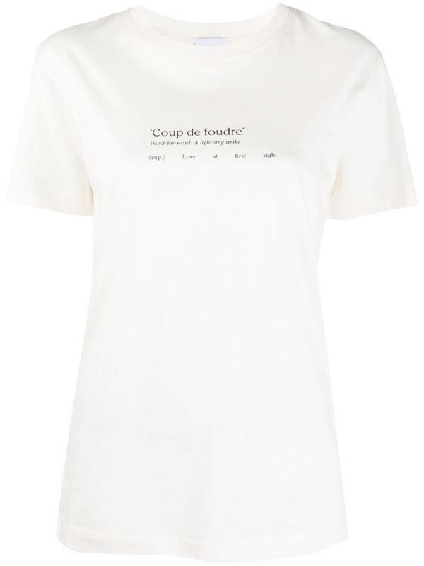 Patou coup de foudre T-shirt in white