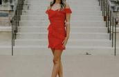 dress,red dress,soft,ruffle dress,ruffle,mini dress,mini