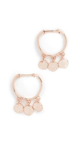 Gorjana Chloe Mini Huggie Earrings in gold / rose