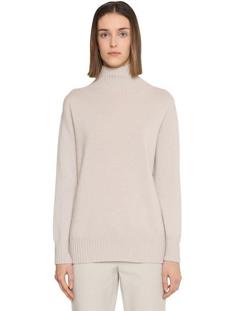 MAX MARA 'S Cashmere Knit Sweater in white / beige
