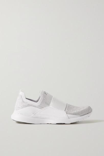 APL Athletic Propulsion Labs - Techloom Bliss Mesh And Neoprene Sneakers - White